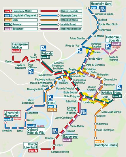 Схема трамвайных путей.